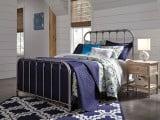 Nashburg Silver Twin Metal Bed