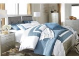 Olivet Silver Queen Upholstered Panel Bed