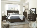 Johurst Grayish Brown  Panel Bedroom Set With Storage Footboard