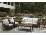 Paradise Trail Medium Brown Outdoor Living Room Set with Cushion