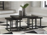Airdon Bronze Coffee Table with 2 Stools