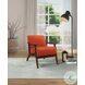 Carlson Orange Velvet Accent Chair