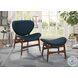 Savry Dark Blue Lounge Chair