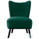 Imani Green Velvet Accent Chair