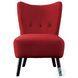 Imani Red Velvet Accent Chair