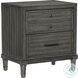 Wittenberry Gray Platform Bedroom Set With Footboard Drawer And LED