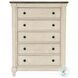 Weaver Antique White And Rosy Brown Panel Bedroom Set