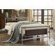 Gavino Gray And Brown Full Metal Panel Bed