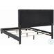 Mapes Charcoal Upholstered King Panel Bed