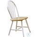 Ensor Natural Brown and White Side Chair Set of 4