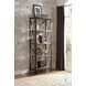 Penpoint Natural And Gunmetal Bookcase