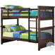 Miles Cappuccino Twin Over Twin Bunk Bed