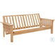 4838 Weather Oak Futon Sofa Frame