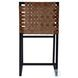 Urban Brown Woven Leather Chair