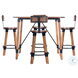 Masterson Natural Wood And Metal Bar Stool