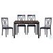 Waite Black Metal Side Chair Set Of 2