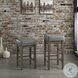Pittsville Antique Gray Height Stool Set Of 2