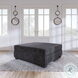 Rawcliffe Charcoal Oversized Accent Ottoman