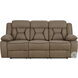 Higgins Tan Reclining Sofa