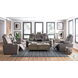 Hyllmont Gray Power Reclining Loveseat With Console