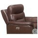 Armando Brown Leather Power Reclining Chair With Power Headrest