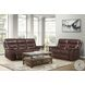 Armando Brown Leather Double Power Reclining Sofa With Power Headrest