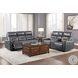 Burwell Gray Double Power Reclining Sofa