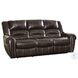 Center Hill Brown Double Reclining Living Room Set