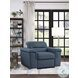 Alfio Blue Chair With Pull Out Ottoman