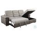 Alfio Beige and Taupe 2 Piece RAF Sectional