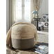 Sweed Valley Natural and Charcoal Pouf