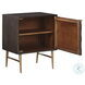 Dorvale Brown and Gold Hardware Accent Cabinet