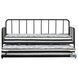 Trentlore Black Twin Metal Daybed with Trundle