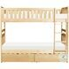 Bartly Natural Pine Youth Bunk Bedroom Set With Storage Boxes