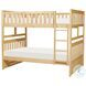 Bartly Natural Pine Full Over Full Bunk Bed