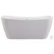 "Harrieta Glossy White 59"" Bath Tub"