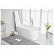 BT10671GW Odette Glossy White Oval Bathtub