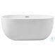 BT10754GW Allegra Glossy White Oval Bathtub
