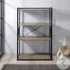 Corday Grey And Black Bookcase