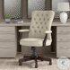 Arden Lane Cream Fabric High Back Adjustable Swivel Arm Office Chair