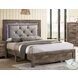 Larissa Natural Tone Queen Upholstered Panel Bed
