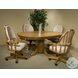 Classic Oak Chestnut Tilt Swivel Chair