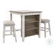 Skempton White And Light Brown 3 Piece Counter Height Dining Set