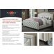 Beige Upholstered Cal. King Panel Bed