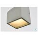 LDOD4004S Raine Silver Square Outdoor Wall Light