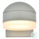 LDOD4015S Raine Silver Round Outdoor Wall Light