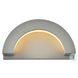 LDOD4032S Raine Silver Semi-Round Outdoor Wall Light