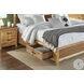 Modway Natural Alder And Warm Walnut Angled King Platform Storage Bed
