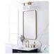 MR802036BR Evermore Brass Rectangle Vanity Mirror