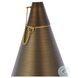 P806 Chanterelle Antique Brass Round Outdoor Path Light